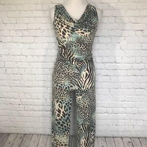 leopard print two piece pajama set Natori CRUZ XS